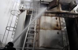 V Šentjurju zgorela sušilnica lesa