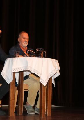 Siniša Gačić (levo) in Mako Sajko Foto: KD dr. Ivan Tavčar Poljane