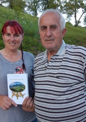 Hermina Jelovčan z očetom Mirkom Štibljem FOTO: OSEBNI ARHIV