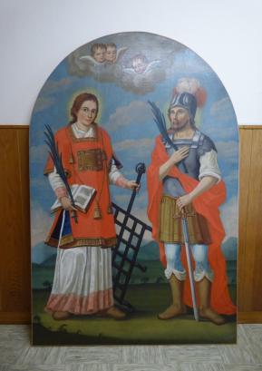 Slika sv. Lovrenca in Kancijana po restavriranju. Foto: Jure Ferlan