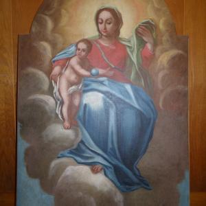 Slika Marije Pomočnice po restavriranju Foto: Jure Ferlan