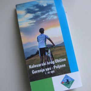 Kolesarjem je od letos dalje na voljo prenovljena karta Občinskega kolesarskega kroga. Foto: Jure Ferlan
