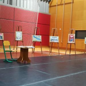 Razstavljeni izdelki otrok, ki so sodelovali na natečaju