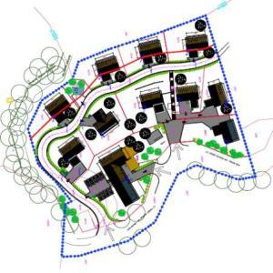Predvidena umestitev stanovanjskih objektov ob nekdanjem gostišču na Hlavčih Njivah.