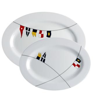 Regata Krožnik ovalni servirni, 2 kos   - Kuhinja in Jedilnica