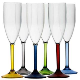 Kozarec za šampanec, barvni, 6 kos   - Kuhinja in Jedilnica