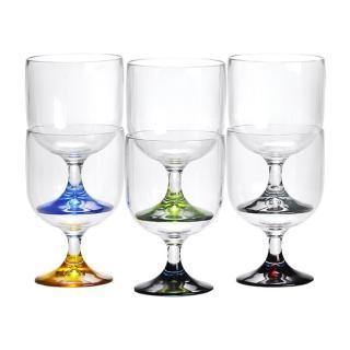 Kozarec za vino,mali, barvni, 6 kos   - Kuhinja in Jedilnica