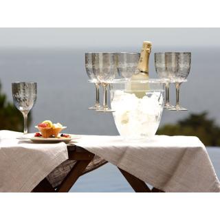 Posoda za šampanjec z držali za kozarce in kozarci   - Kuhinja in Jedilnica