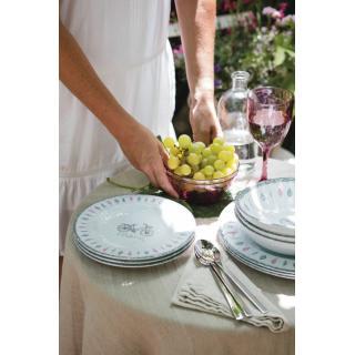 Toscana  plitki krožnik Pretty 6 kos   - Kuhinja in Jedilnica