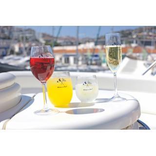 WELCOME ON BOARD Kozarec za vino, 6 kos   - Kuhinja in Jedilnica