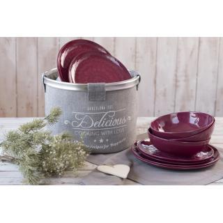 Rosette set namiznih krožnikov Purple 18 kos   - Kuhinja in Jedilnica