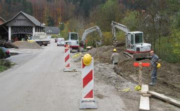 Gradnja kanalizacije na Hotavljah