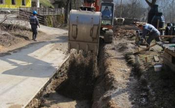 Gradnja kanalizacije na Trebiji pri Visoki coni