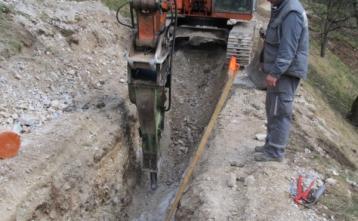 Gradnja kanalizacije na Pilovcu