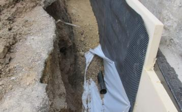 Sanacija kletnih zidov in izdelava drenaže