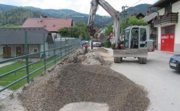 Gradnja kanalizacije na Trebiji