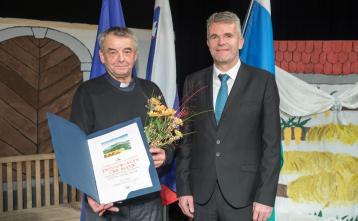 Ciril Istenič, prejemnik priznanja občine