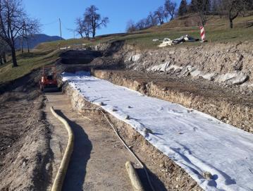 Obnovitvena dela na cesti Murave–Žetina bodo predvidoma trajala do konca leta. Foto: J. E.