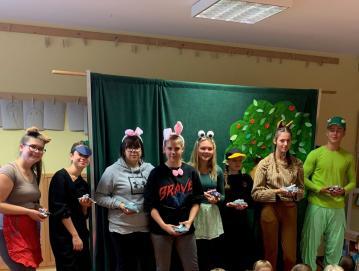 Bodoči vzgojitelji ob Tednu otroka gostovali v vrtcih gorenjske regije, tudi v Gorenji vasi Foto: arhiv Srenje šole Jesenice