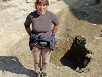 Prvega septembra so stekle arheološke raziskave pod vodstvom arheologinje Marije Ogrin. FOTO: JURE FERLAN