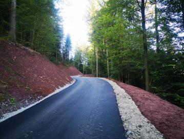 Asfaltiran odsek ceste Lovran–Vic v skupni dolžini štiristo metrov FOTO: JURE BURNIK