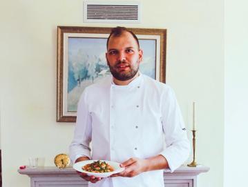 Domen Demšar je že kot otrok vedel, da bo nekoč kuhar. FOTO: OSEBNI ARHIV
