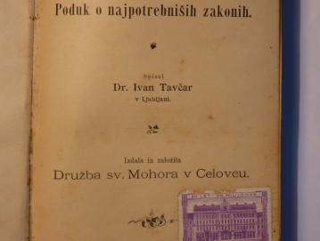 Mohorjeva družba je z izdajanjem knjig, kot je Slovenski pravnik, izobraževala slovenskega človeka.