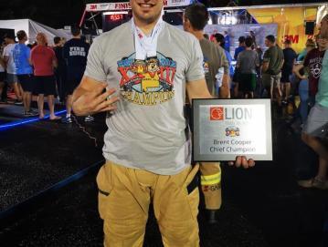 Gregor Stanonik si tudi po petem naslovu svetovnega prvaka želi ostati v družbi najhitrejših gasilcev. Foto: Osebni arhiv