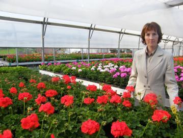 Majda Stanonik v enem izmed rastlinjakov Vrtnarstva Stanonik Foto: osebni arhiv Vrtnarstva Stanonik