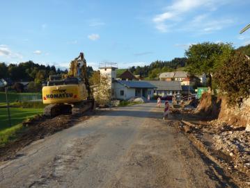Rekonstrukcijska dela na cesti v Lučinah so se začela