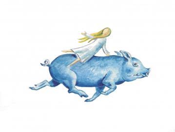 Prašič nad Visokim (ilustracija Maje Šubic)