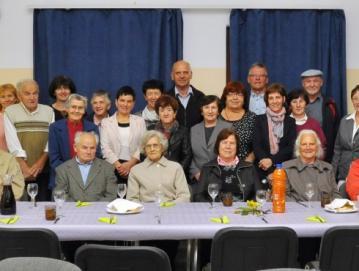 Na srečanju starejših v Lučinah Foto: Leon Kavčič