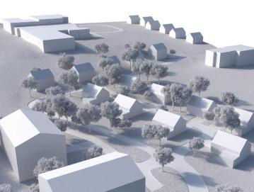 Predvidena umestitev stanovanjskih objektov na Blatih v Gorenji vasi