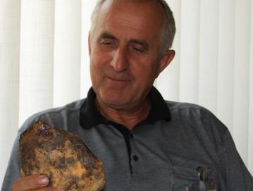 Najditelj meteorita Mirko Štibelj Foto: M. Gosar