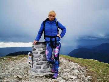 Na Poreznu - obisk gora in hribov je danes del Lidijinega vsakdana Foto: osebni arhiv