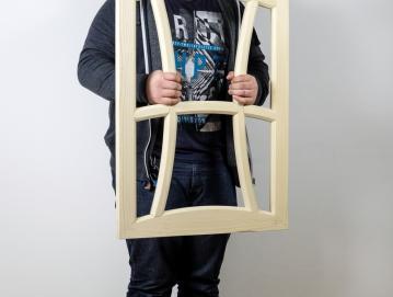 Anže je na slovenski olimpijadi poklicev SloSkills izdelal okensko krilo in dosegel drugo mesto. Foto: osebni arhiv