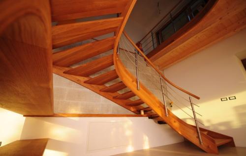 Izdelava lesenih stopnic - Vstopi v galerijo