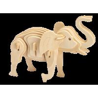 3D sestavljanka iz lesa Marabu KiDS - slon