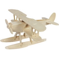 3D sestavljanka iz lesa Marabu KiDS - vodno letalo / hidroplan