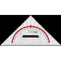 Akrilni geometrijski trikotnik, 16 cm, z držalom