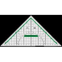 Akrilni geometrijski trikotnik, 22 cm, z držalom