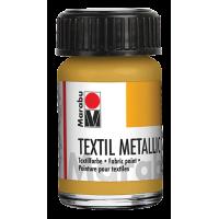 Barva za tekstil, kozarček 15 ml, kovinske barve
