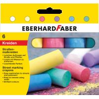 Barvna kreda za risanje po asfaltu, 6 kred