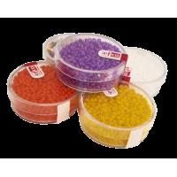 Barvne perle v škatlici, neprosojne, 17 g, Ø2,6 mm