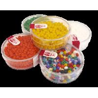 Barvne perle v škatlici, neprosojne, 17 g, Ø3,5 mm
