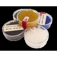 Barvne perle v škatlici, transparentne, 17 g, Ø2,2 mm