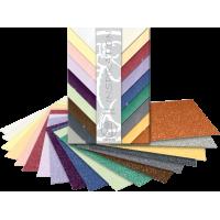 Blok papirja v kovinskih barvah, 200 g, 23 x 33 cm, 18 listni