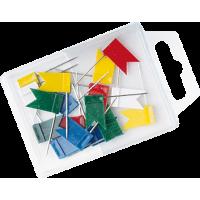 Bucike s PVC zastavico, 1.8 x 1 cm, dolžina 24 mm, 20 kosov