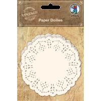 Čipka iz papirja, Ø9 cm, bela, 30 kosov