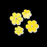 Cvetovi iz papirja, Ø25 / 35 mm, rumeni, 20 kosov